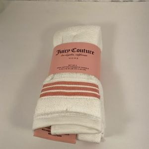 🆕 Juicy Couture White 2pk Fingertip Towels